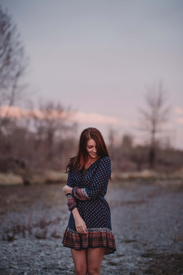 Calgary Model | Portraits at Sunset | Calgary Photographer