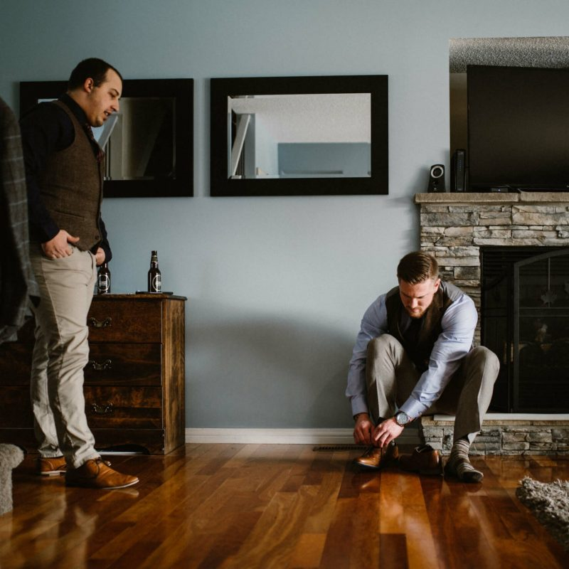 Groom Getting Ready | Calgary Wedding Photographer