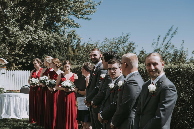 Groom Looking at Bride | Fairmont Hotel Macdonald | Edmonton Wedding Photographer | Anita Jeanine Photography | www.anitajeanine.com