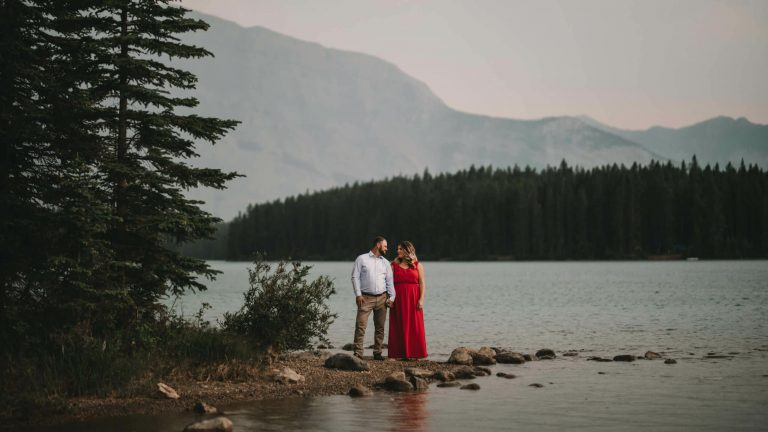 Two Jack Lake Engagement Photography