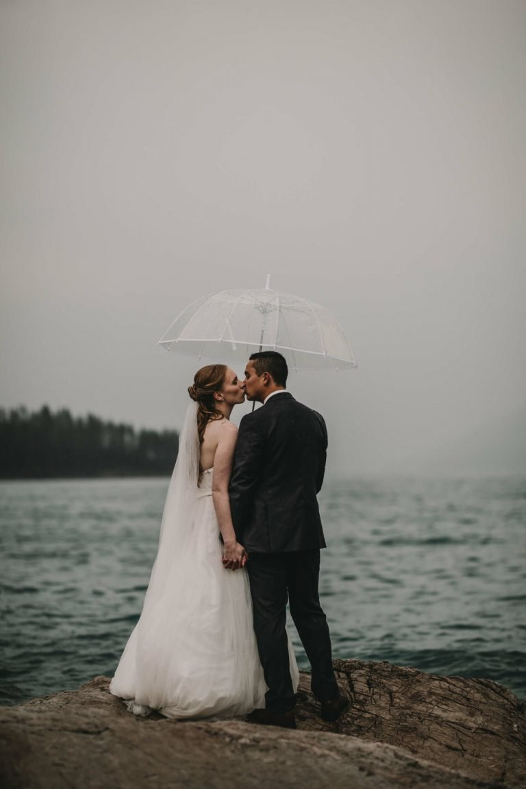 Lake Minnewanka Elopement | Banff Wedding Photographers | Calgary Wedding Photography