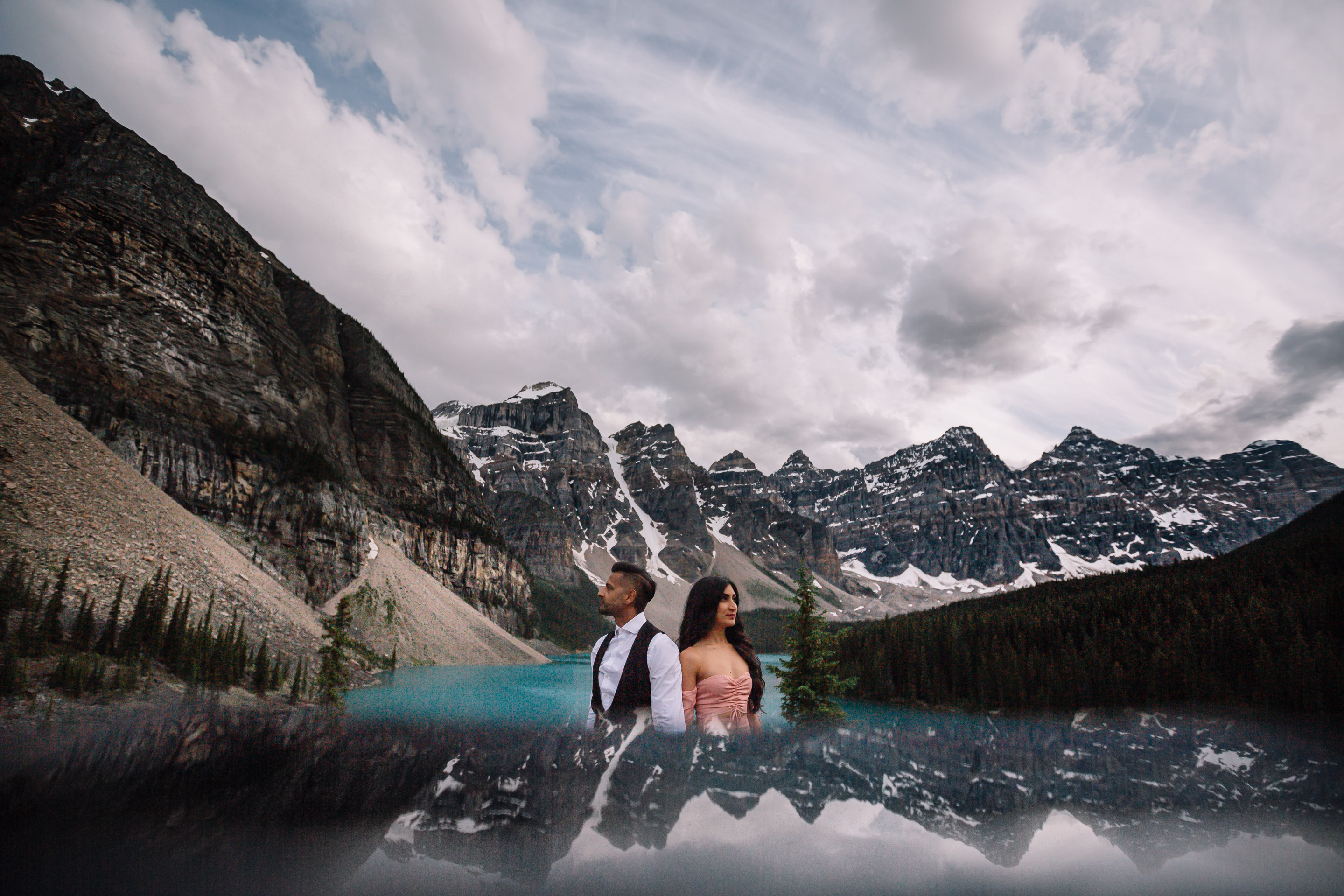 Moraine Lake Engagement, Banff Destination Photography | Lake Louise Elopement Photographers | Best Calgary Photographer