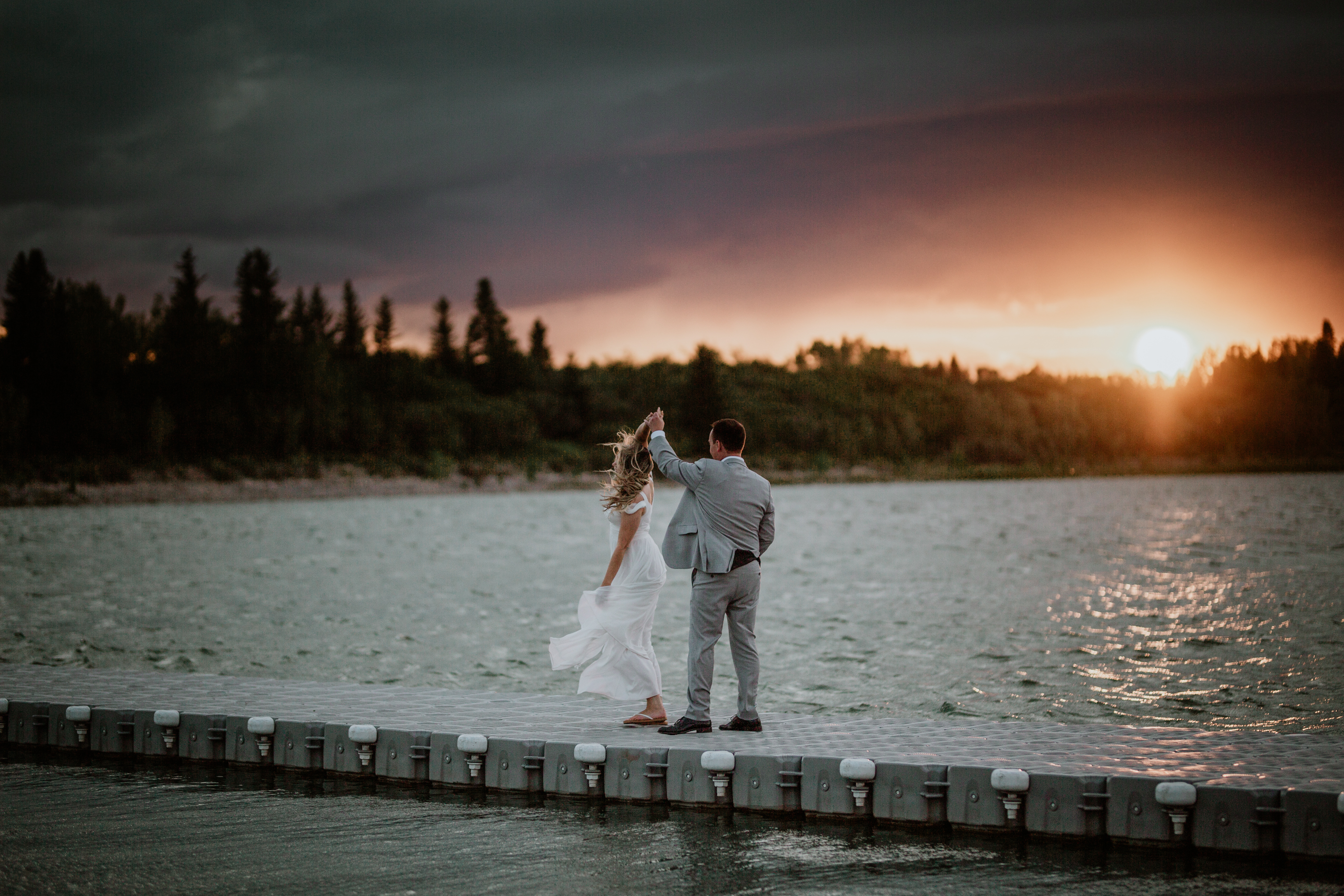 Glenmore Sailing Club Wedding | Best Calgary Wedding Photographers | Small Intimate Wedding Photography