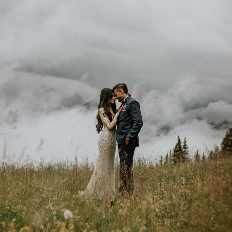 Lake Louise Ski Resort Wedding | Banff Destination Mountain Elopement Photographer Photography | Adventure Wedding Photos