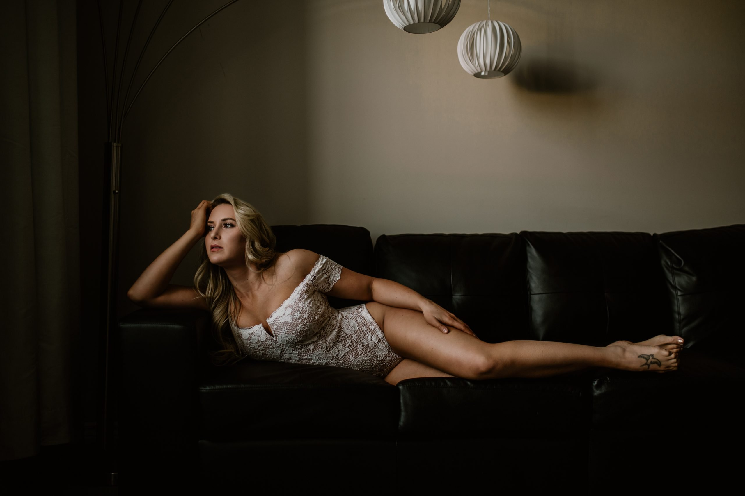 Sarah Hungar Calgary Boudoir Photography | ABBA Fitness Model in Victoria Secret Lingerie | Anita Jeanine Photography
