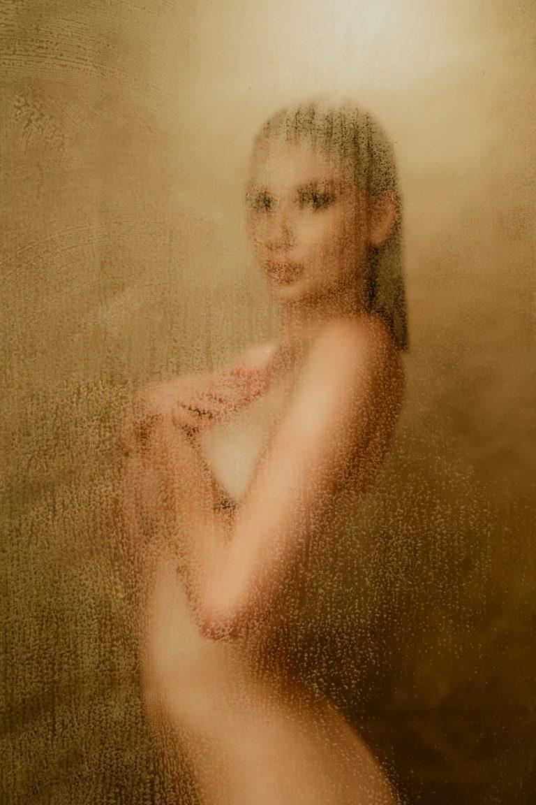 Boudoir Model in Shower | Best Calgary Boudoir Photographers | Skyler Munro | YYC Intimate Photography